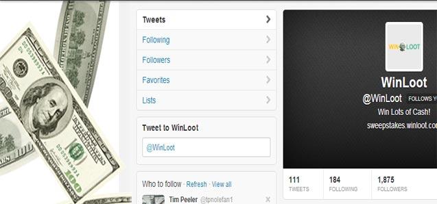 Follow Winloot on Social Media