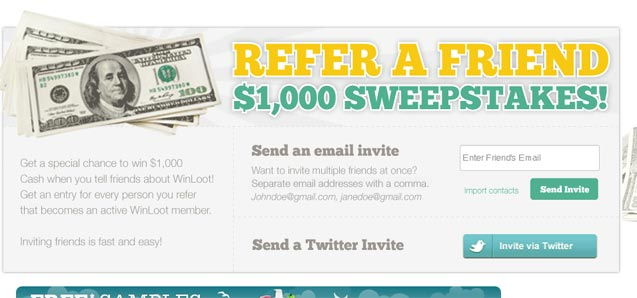 Winloot Tell-A-Friend Sweepstakes